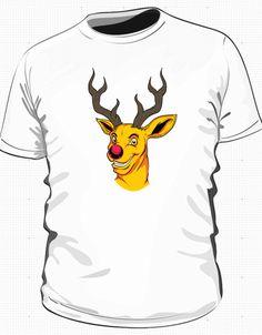 Zajebiste wzory na koszulki w IdeaShirt.pl Żółty jeleń to nasz faworyt.