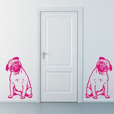 Dog Decal Pug Reflection Vinyl Sticker Decal Good for by PSIAKREW New Adventures, Pugs, Reflection, Decals, Stickers, Unique Jewelry, Handmade Gifts, Etsy, Vintage