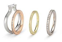 ORRO Contemporary Jewellery Glasgow - Niessing - Gold & Diamond Satellite Eternity Wedding Ring - Eternity Rings at ORRO Modern Jewellery Glasgow Scotland