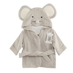 Scheppend Baby Boy & Girl Cotton Infant Animal Hooded Bath Beach Towel Bathrobe Grey