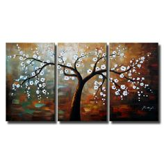 """""""The Giving Tree"""" - Love the colors and the multi-canvas painting."""