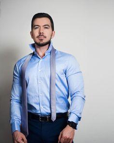 Shirt Dress, Suits, Mens Tops, Blue, Dresses, Fashion, Vestidos, Moda, Shirtdress