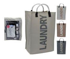 Folding Collapsible Laundry Basket Bag Bin Storage Hamper with Aluminium Handles