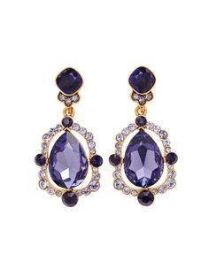 Oscar de la Renta Pear Cut Crystal Drop Earring
