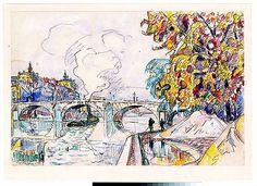 Paul Signac (French, 1863–1935). Paris: Pont Royal and the Gare d'Orsay, ca. 1929–30. The Metropolitan Museum of Art, New York (1975.1.714) #paris