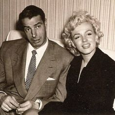 Marilyn and Joe in 1954 #marilynmonroe #joedimaggio #realmarilynmonroe #love #marilynremembered #marilynrememberedfanclub #1954