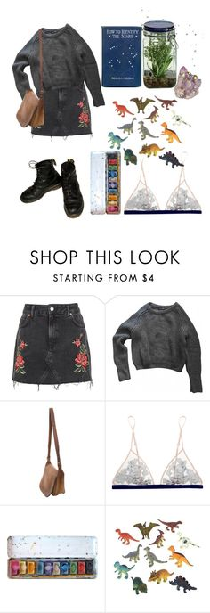 """Dreamy"" by thewitchishere ❤ liked on Polyvore featuring Topshop, American Apparel, Coach, La Perla, Dinosaurs and Alöe"