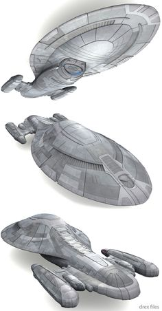 USS Voyager armor angled view