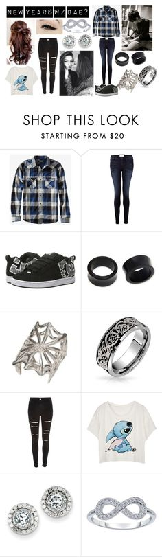 """""""New Years W/ Bae?"""" by lillybearrawrr on Polyvore featuring Anatomy Of, Frame Denim, DC Shoes, NOVICA, Bernard Delettrez, Bling Jewelry, River Island and Kevin Jewelers"""