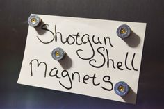 Hey, I found this really awesome Etsy listing at https://www.etsy.com/listing/238896362/shotgun-shell-magnets-4-pack