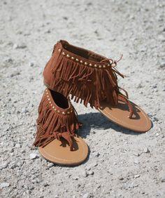 Sass N' Stones - Flirty Fringe Sandals, $18.95 (http://sass-n--stones.mybigcommerce.com/flirty-fringe-sandals/)