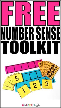 Grab this FREE number sense toolkit that includes a five frame, a ten frame, number cards 0-20, and a set of ten frame cards 0-10. Simply stash them in a gallon sized baggie, clear plastic sleeve, or dry erase pocket for simple storage and organization. They're perfect for small or whole group math activities in kindergarten, first grade, and second grade classrooms!