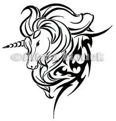 celtic horse tattoos   Horse Unicorn Tattoo Design Free Flash Sayfa 2 Dvme Tattoo