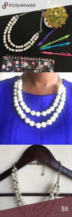 Double strand pearl necklace Double strand pearl necklace Jewelry Necklaces