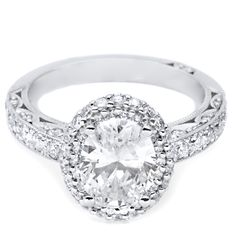Vintage oval engagement ring from www.solomonbrothers.com
