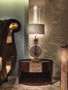 Couture Bedroom www.turri.it Italian luxury bedside table