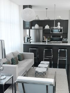 Open Kitchen Living Suzie Toronto Interior Design Group