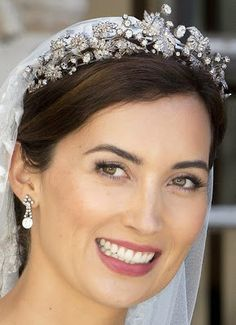 Tiara Mania: Luxembourg Vine Leaves Tiara worn by Princess Claire of Luxembourg