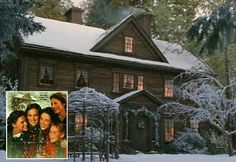 """Louisa May Alcott's Orchard House in """"Little Women"""" (a look at both the real house and the sets from the movie)"""