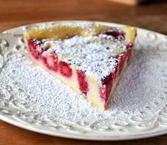 Crustless Raspberry Custard Pie. Lowfat and easy. Recommended by Christina. Give it a try.