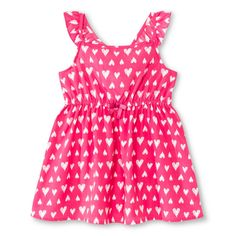 Toddler Girls' Flutter Sleeve Heart Dress - Paradise Pink
