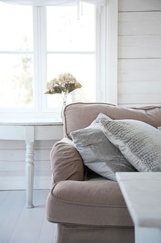 With Valentine's Day just a day away, I am thinking of the soft neutral colors of spring, especially blush . Decor, Furniture, Room, Home, Neutral Colors, Room Inspiration, Pillows, Living Room Inspiration, Colorful Furniture