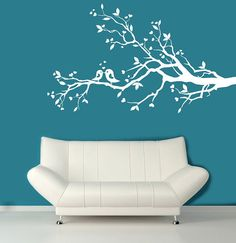 Wall Decal  white tree branch with hearts decal by ModernWallDecal, $69.00  for baby room