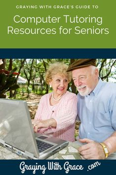 Not all seniors take naturally to computers and technology. But resources for computer tutoring for seniors like these can help. Learn about helpful books, video training, and websites that can help seniors and the elderly learn to use computers. Computer Lessons, Technology Lessons, Computer Basics, Teaching Technology, Technology Integration, Computer Help, Assistive Technology, Elderly Activities, Senior Activities