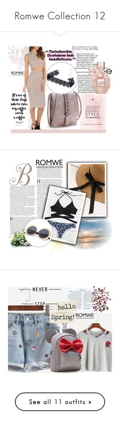 """""""Romwe Collection 12"""" by difen ❤ liked on Polyvore featuring vintage and Victoria's Secret"""