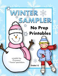 FREE Winter NO PREP Printables! These printables are samples from my January NO PREP Printables for Common Core Skills. Enjoy!