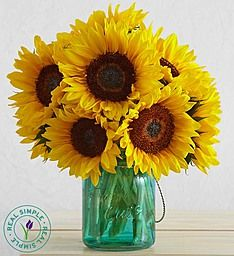 Sunflowers with Mason Jar by Real Simple®