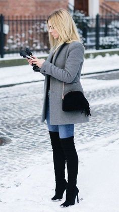 winter outfits 2019 31 The Best Lovely Winter Outf - winteroutfits Winter Outfits Women, Casual Winter Outfits, Winter Fashion Outfits, Stylish Outfits, Autumn Winter Fashion, Classy Outfits, Fall Outfits, Winter Clothes Women, Winter Wear