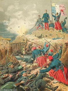 la prise de malakoff de Frederic Theodore Lix (1830-1897, France)