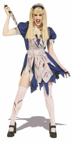 Disfraz chica Alicia en el país de las Maravillas. Asesina