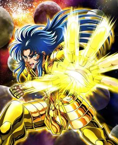 Gemini Kanon - Saint Seiya - Galaxian Explosion by FernanDohko on DeviantArt Manga Anime, Anime Guys, Gemini Constellation, Golden Warriors, Roman Reings, Cute Love Cartoons, Nike Gold, Animes Wallpapers, In Ancient Times