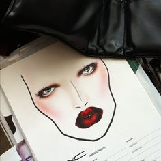 MAC cosmetics face chart #inspiration