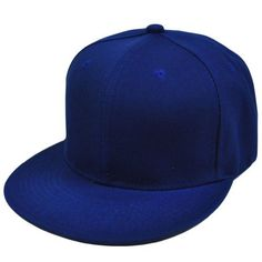 f2ac4122aea Blank Plain Solid Color Royal Blue Flat Bill Visor Snapback Constructed Hat  Cap by Sinbad Sports