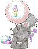 Oh my Alfabetos!: Alfabeto Me to You Bears con globo en tonos rosa.