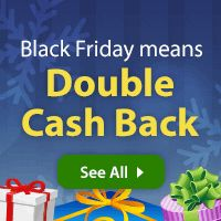 Shop Black Friday Sales & Deals with Double Cash Back! I use and love Ebates for all my online shopping (which this time of year is a lot)!