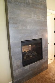 Tile Fireplace Modern Indoor Fireplaces Kansas City By Kenny's