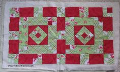 The Quilt Ladies Book Collection: Holiday Table Runner Quilt Pattern Part 4