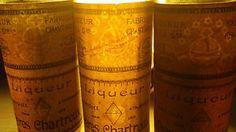 Inscription en filigrane sur les étiquettes de très vieilles #chartreuse de Tarragone !