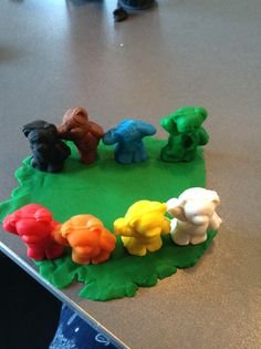 zombie play dough bears