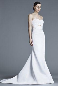 Sleek gown inspiration! J. Mendel Bridal Spring 2016 Fashion Show