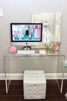 Miss Liz Heart: Beauty Room/Office Update - New Desk