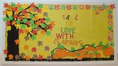 Celebrate fall with your students by creating a bulletin board design similar to this one. Dollar Tree carries a variety of bulletin board borders, as well as construction paper to create scenes just like this!