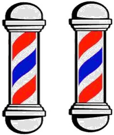barber shop pole clip art vector clip art online royalty free rh pinterest com barbers clipart barber shop clipart