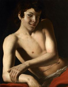 Giovanni Battista Caracciolo (Il Battistello), Half-Length Figure of a Young Man, c. 1610