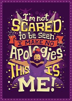 """""""I'm not scared to be seen. I make no apologies."""" The Greatest Showman - Hand Lettering by Risa Rodil The Greatest Showman, Song Quotes, Movie Quotes, Broadway Quotes, Broadway Posters, Qoutes, Movie Posters, Disney Star Wars, Hamilton Musical"""
