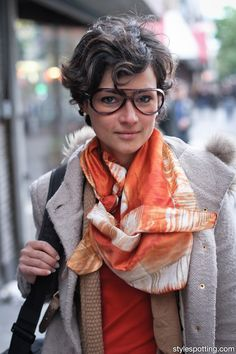 StyleSpotting™ || NYC + LA Street Style || Love the glasses.